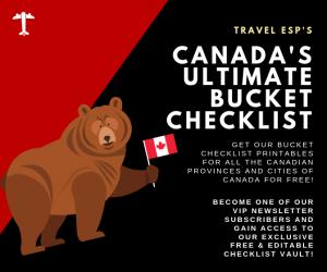 Canada Bucket List