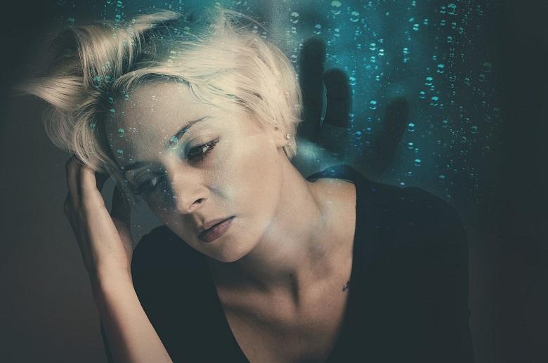 depressed lady